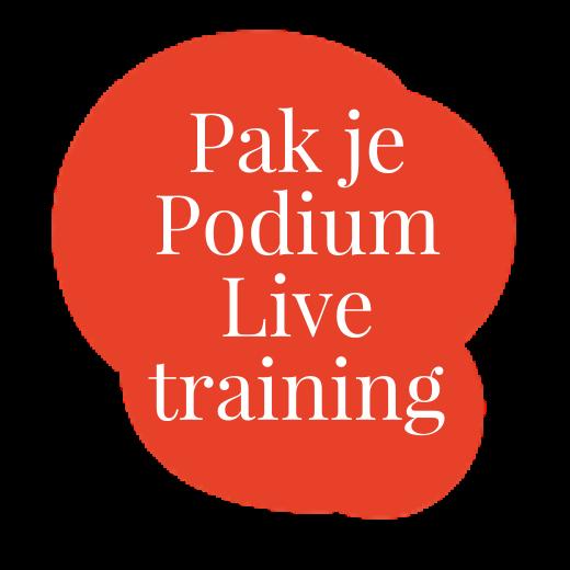 Pak je Podium Livetraining logo