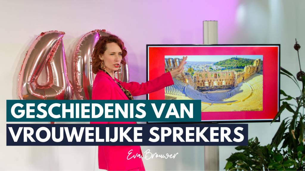 Pak je podium TV Geschiedenis van vrouwelijke spreker